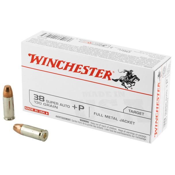 Winchester .38 Super 130GR FMJ Ammunition 50rds