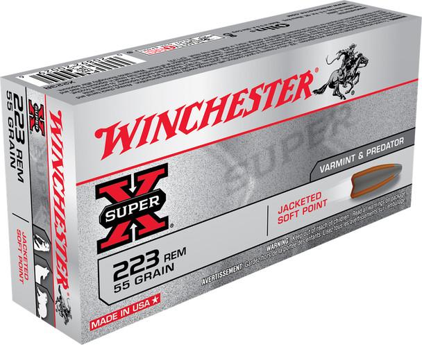 Winchester SuperX 223REM 55GR JSP Ammunition 20rds