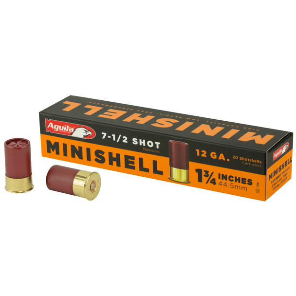 "Aguila Minishell 12GA 1.75"" 7.5 Shot Ammunition 20rds"