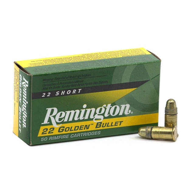 Remington Golden Bullet 22 Short 29gr Plated RN Ammunition 500rds