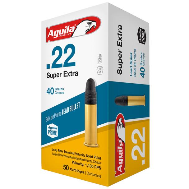 Aguila Super Extra 22LR 40gr Solid Point Ammunition 50rds