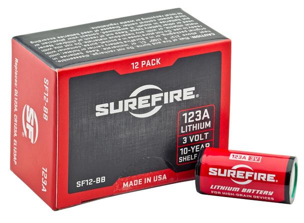 Surefire 123A Litium Batteries 12/Pack