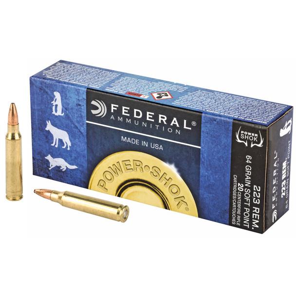 Federal Power-Shok .223 Remington 64gr SP Ammunition 20rds