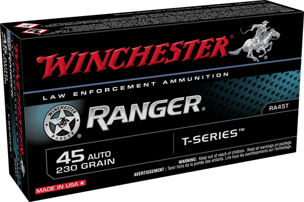 Winchester RA45T Ranger T-Series 45ACP 230GR Ammunition 50rds