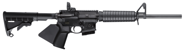"""Smith & Wesson 12001 M&P15 Sport II *CA Compliant 5.56x45mm NATO 16"""" 10+1 Black Fixed Black Synthetic Stock Black California Paddle Grip Right Hand"""