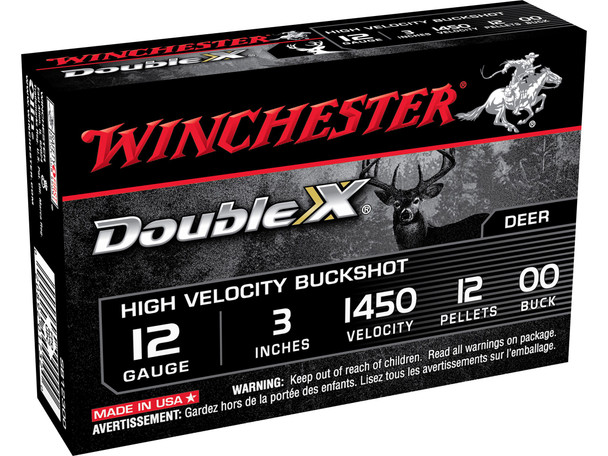 Winchester Double X Magnum ammunition delivers superior buckshot performance and stopping power sure to bring down the toughest game. Featuring high velocities for hard hitting performance on all types of game, each load is specially formulated for maximum density and consistency.
