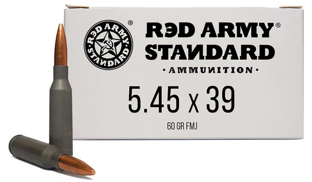 Red Army 5.45x39mm 60gr FMJ Ammunition 20rds Steel Cases