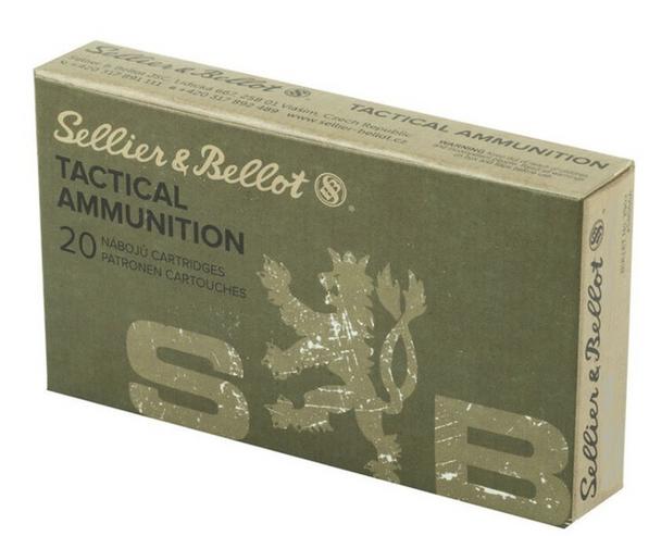 S&B 7.62x51mm 147gr FMJ Ammunition 20rds
