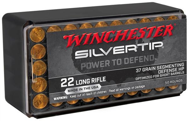 Winchester Wildcat 22LR 37gr Silvertip HP Ammunition 50rds