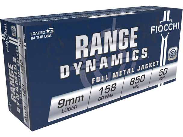 Fiocchi 9MM 158gr FMJ Subsonic Ammunition 50rds