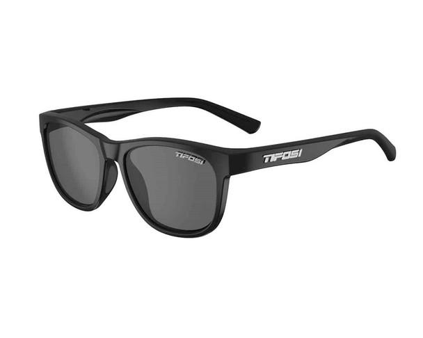 Tifosi Swank Sunglasses Satin Black Smoke Polarized Lens