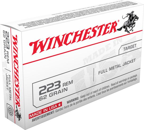 Winchester .223 Remington 62gr FMJ Ammunition 20rds