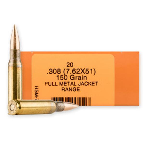 HSM 7.62mm 150gr FMJBT Ammunition 20rds