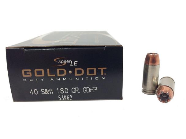 Speer LE Gold Dot 40 S&W 180gr HP Ammunition 50rds