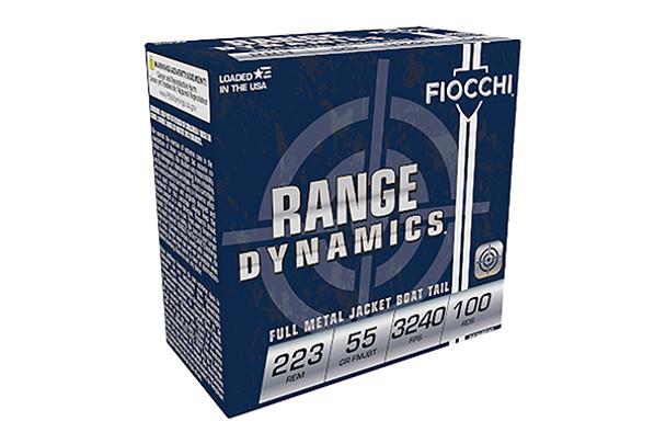 Fiocchi .223 Remington 55gr FMJ Ammunition 100rds