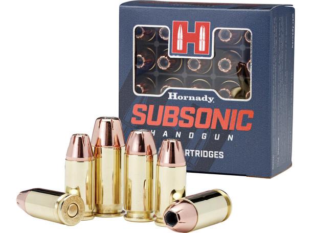 Hornady Subsonic 9mm Luger 147gr XTP JHP Ammunition 25rds