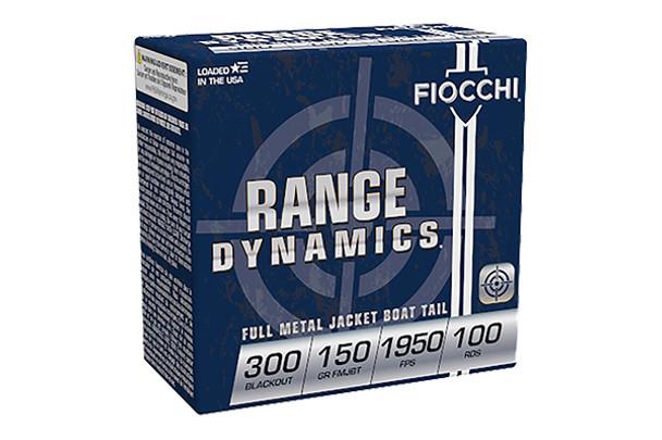 Fiocchi 300 Blackout 150gr FMJ Ammunition 100rds