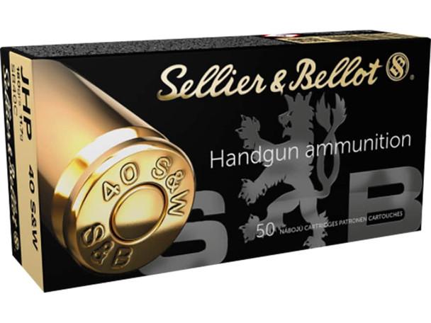 S&B .40 S&W 180gr JHP Ammunition 50rds