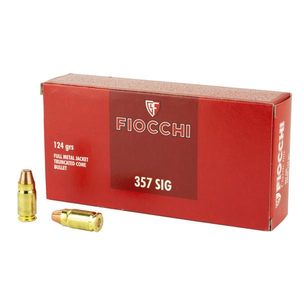 Fiocchi .357 SIG 124gr FMJ Ammunition 50rds