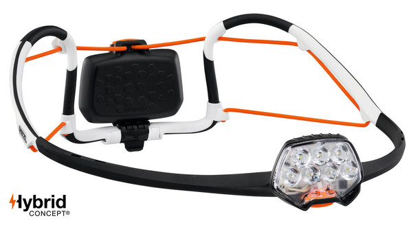 Lightweight rechargeable headlamp with multi-beam and AIRFIT® headband. 500 lumens The rechargeable IKO® CORE headlamp combines multiple technologies to offer 500 lumens at only 79 g. Featuring an AIRFIT® headband, an ultra-thin lamp body and an energy source worn in the rear, the headlamp is balanced and comfortable enough to be imperceptible. The multiple LEDs are ideally distributed to provide uniform lighting, for optimal visual comfort. Thanks to its HYBRID CONCEPT design, IKO® CORE comes with the CORE rechargeable battery and is also compatible with three AAA/LR03 batteries (not included). It is versatile: can also be worn around the neck, or transformed into a lantern, using the storage pouch. It can be flattened to reduce bulk, making it practical for all outdoor activities.