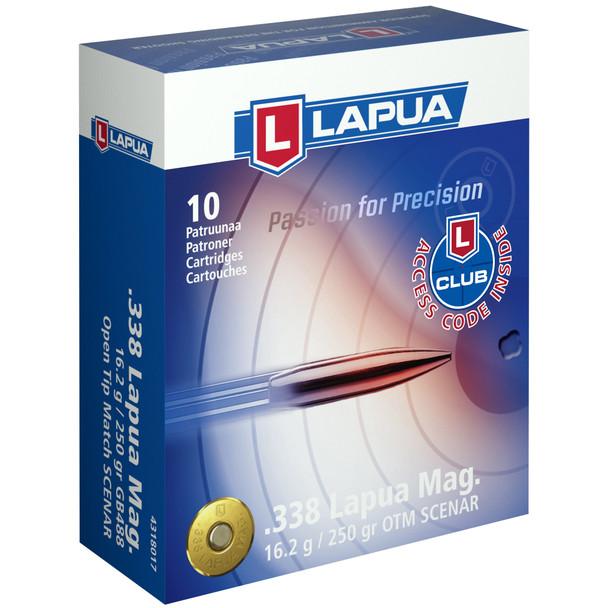 Lapua Scenar 338 Lapua 250gr Open Tip Match 10rds
