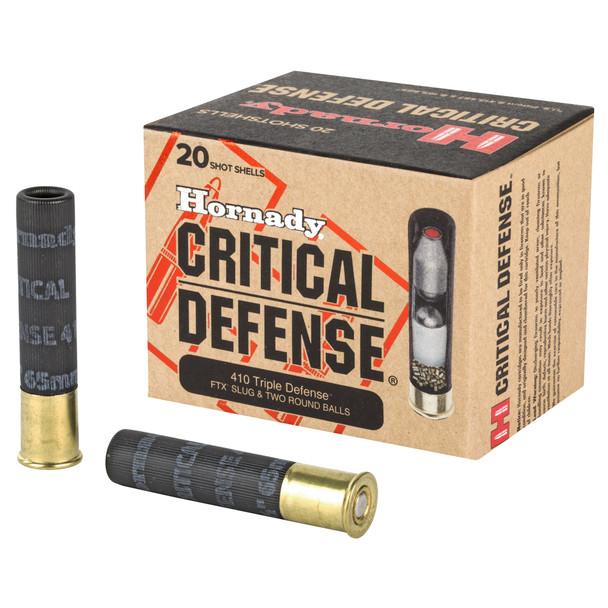 "Hornady Critical Defense 410GA 2.5"" Defender Ammunition 20rds"