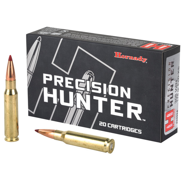 Accuracy and terminal performance are the cornerstones of Hornady(R) Precision Hunter(R)factory loaded ammunition. Great care has been given by Hornady engineers to develop superior, match-accurate hunting loads that allow the ELD-X(R) bullet to achieve its maximum ballistic potential.