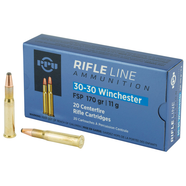 PPU 30-30 170gr Flat Soft Point Ammunition 20rds