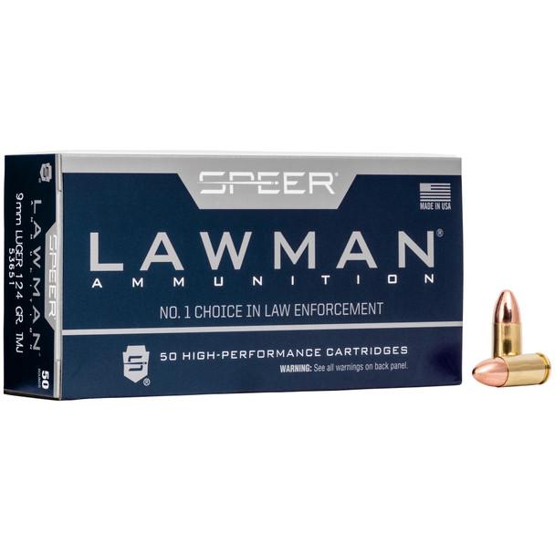 Speer Lawman 9mm 124gr Total Metal Jacket Ammunition 50rds