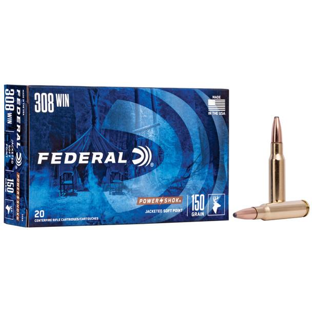 Federal PowerShok .308 Winchester 150gr Soft Point Ammunition 20rds