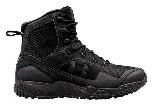 Under Armour 1257847 Men's Black UA Valsetz Side Zip Tactical Boot - 8.5 R