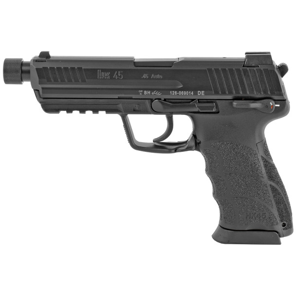 H&K 45 Tactical V1 Full Size 45ACP Pistol w/ Threaded Barrel, Suppressor Sights With Tritium Front Sights, Safety, Decocker & 2 10Rd Mags