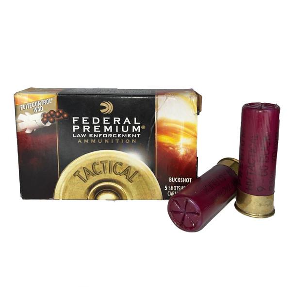 Federal Premium LE Ammunition 12 Gauge 2-3/4 in 9-Pellet 00 Buckshot 5/Box