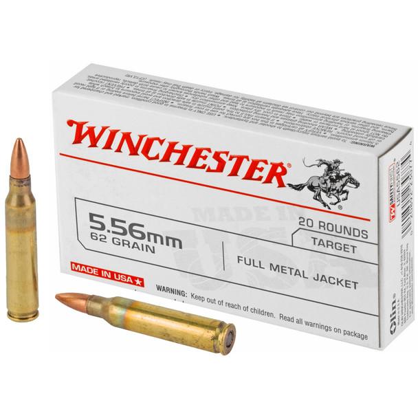 Winchester 5.56mm 62gr FMJ Ammunition 20rds