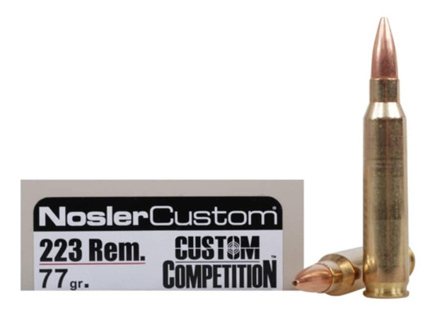 Nosler Match Grade .223 Remington 77gr Custom Competition Ammunition 20rds