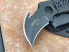 C.T.K. Compact Tactical Karambit lite, Double edge with hook, Black finish, black cord wrap