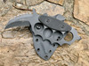 Trench Karambit with crusher point, Black Textured G10 handle, aggressive top