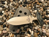"3.5 "" Push dagger, Desert Tan finish, OD Green/Black G10 handle"