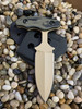"3.0"" Push dagger with 3 finger grip handle,OD Green/Black G10 Handle, Tan finish"