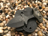 2 inch blade push dagger, Black finish, OD Green/Black G10 handle, black blade finish