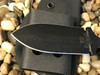 "3.5""  Push dagger, Black finish, Black Micarta handle, Plain edge"