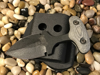 2 inch blade push dagger, Black finish, Black Micarta handle, black blade finish