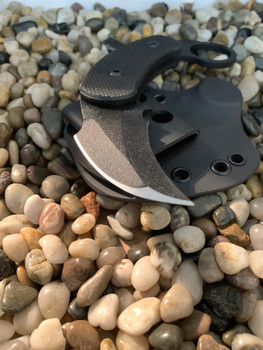 C.T.K. Compact Tactical Karambit, Black Textured G-10 Handles, Persian Double edge, Black finish