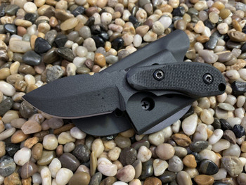 Cub, Black Textured G10, Plain Edge , 440c Stainles Steel