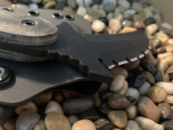 Combat Karambit  Tri-edge with aggressive top, Black Micarta Handles