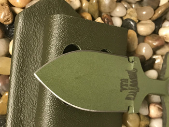 "2.5"" Push dagger with 3 finger grip handle,OD Green/Black G10 Handle, OD Green finish"