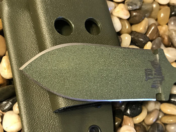 "3.5"" Push dagger with 3 finger grip handle,OD Green/Black G10 Handle, OD Green finish"