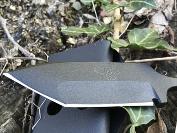 "3.5"" Tanto,Single edge Push dagger, 3 finger grip handle,OD Green/Black G10 Handle, Black finish"