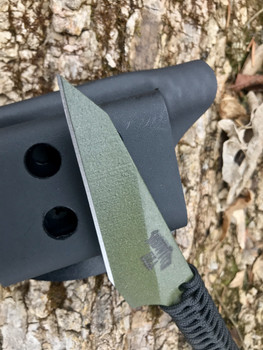 KARADASHI 2: Chisel point,  OD Green Finish,  your choice on cord color