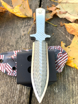 Silver Twill Carbon  Fiber & Cts-Xhp steel, Swift boot knife